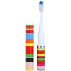 Violife Slim Sonic Candy Stripe escova de dentes sónica elétrica com cabeça de reposição