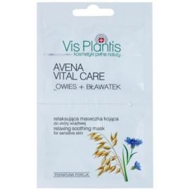 Vis Plantis Avena Vital Care beruhigende Maske für gerötete und gereizte Haut Nicht parfümiert  2 x 7 ml