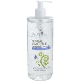 Vis Plantis Herbal Vital Care micelární gel 3 v 1 s extraktem z chrpy a pantenolem  500 ml