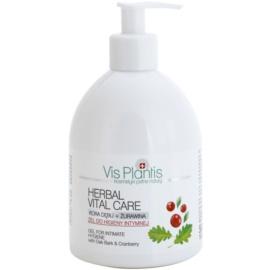 Vis Plantis Herbal Vital Care antibakterielles Gel für die intime Hygiene mit Eichenrinde und Cranberry  500 ml