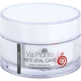 Vis Plantis Reti Vital Care Nachtcreme gegen Falten mit nahrhaften Effekt Adenosine, Retinol, Poly-Helixan and Snail Slime Filtrate 50 ml