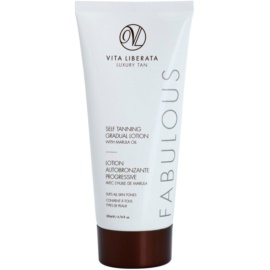 Vita Liberata Fabulous Transparante Zonnebrandcrème voor Gelijkmatige Bruining   200 ml