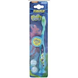 VitalCare SpongeBob escova de viagem para crianças com tampa soft