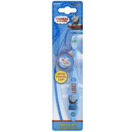 VitalCare Thomas & Friends escova de viagem para crianças com tampa soft  Blue