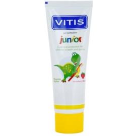 Vitis Junior foggél gyermekeknek íz Strawberry (For Children from 3 Years, Fluoride, Xylitol) 75 ml