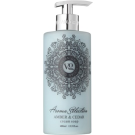 Vivian Gray Aroma Selection Amber & Cedar flüssige Cremeseife  400 ml