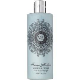 Vivian Gray Aroma Selection Amber & Cedar sprchový a koupelový gel  500 ml