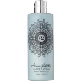 Vivian Gray Aroma Selection Amber & Cedar gel de ducha y para baño  500 ml