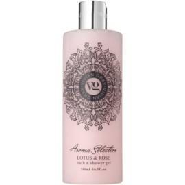 Vivian Gray Aroma Selection Lotus & Rose sprchový a kúpeľový gél  500 ml