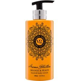 Vivian Gray Aroma Selection Orange & Peach Hand and Body Lotion  400 ml