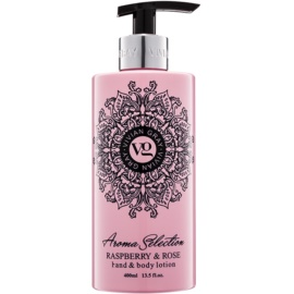 Vivian Gray Aroma Selection Raspberry & Rose losjon za roke in telo  400 ml