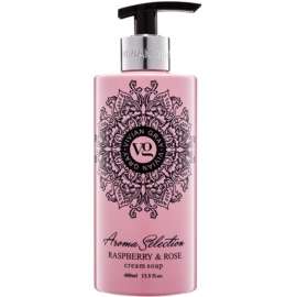 Vivian Gray Aroma Selection Raspberry & Rose flüssige Cremeseife  400 ml
