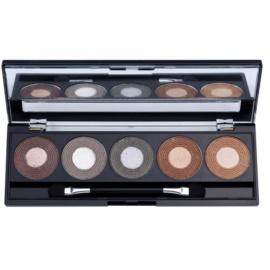 W7 Cosmetics Autumn Eyes paleta očních stínů se zrcátkem a aplikátorem  5 x 1,5 g
