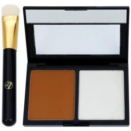 W7 Cosmetics Catwalk paleta do konturowania twarzy z lusterkiem i aplikatorem  9 g