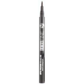 W7 Cosmetics Extra Fine vodoodporni svinčnik za oči odtenek Black 0,7 ml