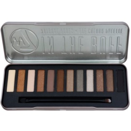 W7 Cosmetics In the Buff paleta očních stínů s aplikátorem  15,6 g