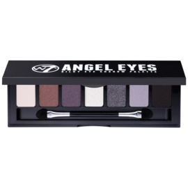 W7 Cosmetics Angel Eyes Jet Set paleta očních stínů se zrcátkem a aplikátorem odstín Jet Set 7 g