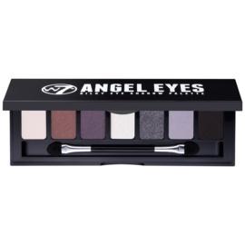 W7 Cosmetics Angel Eyes Jet Set paleta farduri de ochi cu oglinda si aplicator culoare Jet Set 7 g
