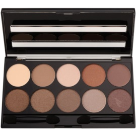 W7 Cosmetics 10 Out of 10 paleta očních stínů odstín Browns 10 g