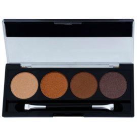 W7 Cosmetics Toasted paleta očních stínů s aplikátorem  4 g