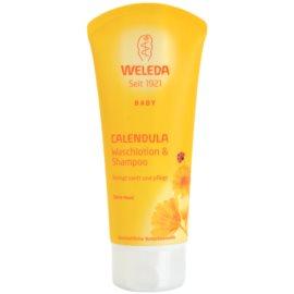 Weleda Baby and Child šampon in gel za prhanje za otroke ognjič  200 ml