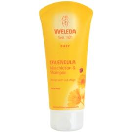 Weleda Baby and Child šampon a sprchový gel pro děti měsíček  200 ml