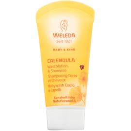 Weleda Baby and Child šampon a sprchový gel pro děti měsíček  20 ml