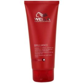 Wella Professionals Brilliance balzam za grobe in barvane lase  200 ml