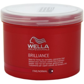 Wella Professionals Brilliance mascarilla para cabello fino y teñido  500 ml