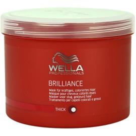 Wella Professionals Brilliance masca pentru par aspru si vopsit  500 ml