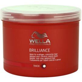 Wella Professionals Brilliance maska pro hrubé, barvené vlasy  500 ml