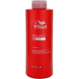 Wella Professionals Brilliance šampon pro hrubé, barvené vlasy  1000 ml