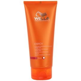Wella Professionals Enrich acondicionador hidratante  para cabello duro, áspero y seco  200 ml