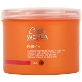 Wella Professionals Enrich зволожуюча та поживна маска для густого, товстого та сухого волосся  500 мл