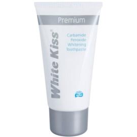 White Kiss Premium pasta de dientes con efecto blanqueador para fortalecer el esmalte dental  75 ml