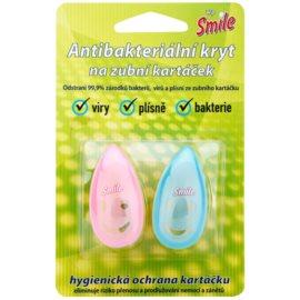 White Pearl Smile capac antibacterial periuta de dinti Pink & Blue 2 buc
