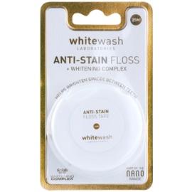 Whitewash Nano Anti-Stain dentální nit s bělicím účinkem  25 m
