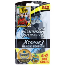 Wilkinson Sword Xtreme 3 Black Edition Einweg-Rasierer  4 + 2 Ks