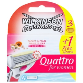 Wilkinson Sword Quattro for Women Papaya & Pearl náhradní břity  4 ks