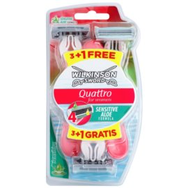 Wilkinson Sword Quattro for Women Sensitive aparat de ras de unică folosință  4 buc