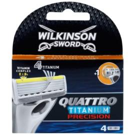 Wilkinson Sword Quattro Titanium Precision Змінні картриджі 4 Шт