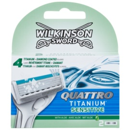 Wilkinson Sword Quattro Titanium Sensitive náhradní břity  2 ks