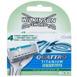 Wilkinson Sword Quattro Titanium Sensitive Ersatzklingen   4 St.
