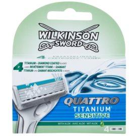 Wilkinson Sword Quattro Titanium Sensitive Резервни остриета  4 бр.