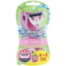 Wilkinson Sword Xtreme 3 Beauty Sensitive jednorázové holiace strojčeky  4 ks