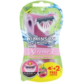 Wilkinson Sword Xtreme 3 Beauty Sensitive самобръсначки за еднократна употреба  6 бр.