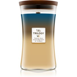 Woodwick Trilogy Nautical Escape dišeča sveča  609,5 g z lesenim stenjem