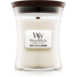 Woodwick White Tea & Jasmin ароматна свещ  275 гр. среден