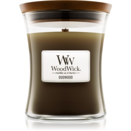 Woodwick Oudwood illatos gyertya  275 g közepes