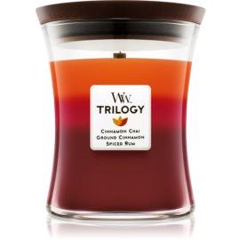 Woodwick Trilogy Exotic Spices  ароматна свещ  275 гр. среден